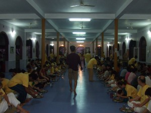 The dining hall at Sivananda