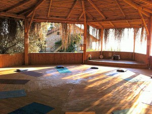 The yoga platform where we'll be practising during my retreat in Turkey, September.